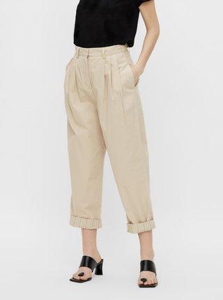 Krémové zkrácené kalhoty .OBJECT Nancy