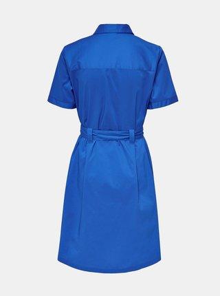 Modré košeľové šaty so zaväzovaním Jacqueline de Yong Millie