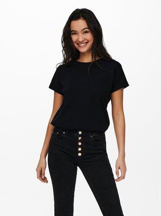Čierne basic tričko Jacqueline de Yong Pastel
