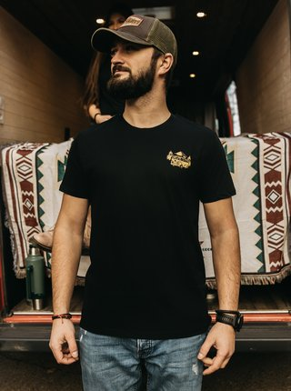 Čierne pánske tričko ZOOT Original Čas nehraje roli
