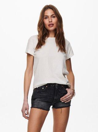 Biele basic tričko Jacqueline de Yong Pastel