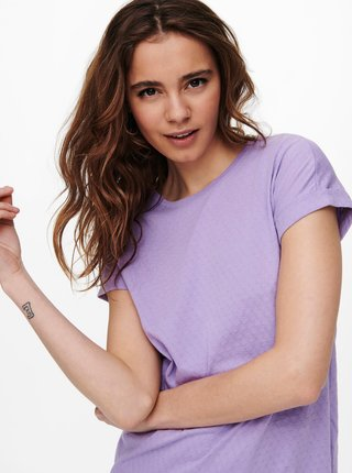 Fialové basic tričko Jacqueline de Yong Pastel
