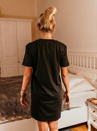 Čierna dámska nočná košeľa ZOOT Original Dark side