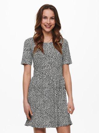 Čierno-biele vzorované šaty Jacqueline de Yong Kirkby
