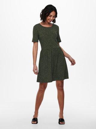 Tmavě zelené vzorované šaty Jacqueline de Yong Kirkby