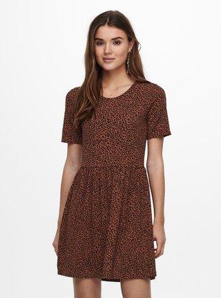 Hnedé vzorované šaty Jacqueline de Yong Kirkby