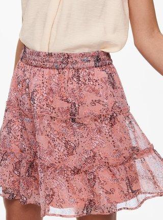 Růžová vzorovaná sukně Jacqueline de Yong Linda