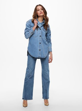 Modrá voľná rifľová košeľa Jacqueline de Yong Bailey