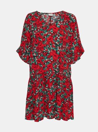 Červené kvetované šaty Jacqueline de Yong Wossi