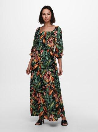 Zelené vzorované maxišaty Jacqueline de Yong Mina