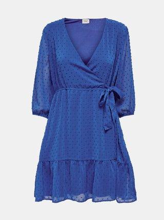 Modré vzorované zavinovací šaty Jacqueline de Yong Emilia