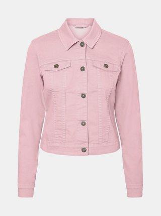 Ružová rifľová bunda Noisy May Debra