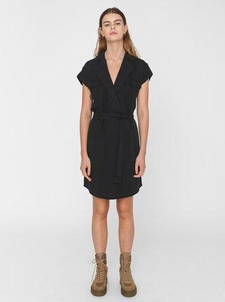 Černé šaty se zavazováním Noisy May Vera