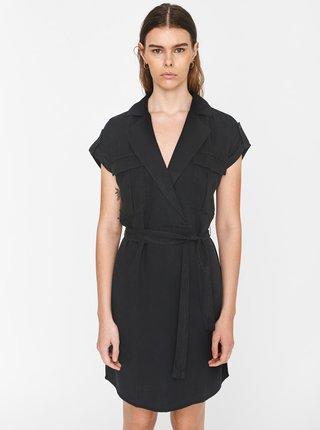 Čierne šaty so zaväzovaním Noisy May Vera