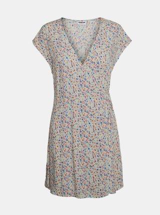 Krémové kvetované šaty Noisy May Asta