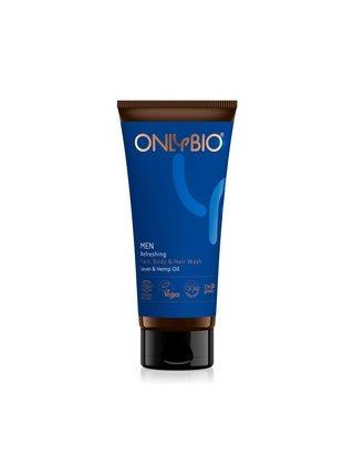OnlyBio Pánský osvěžující mycí gel na obličej, tělo i vlasy (200 ml)