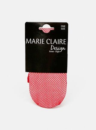 Červené sieťované podkolienky Marie Claire