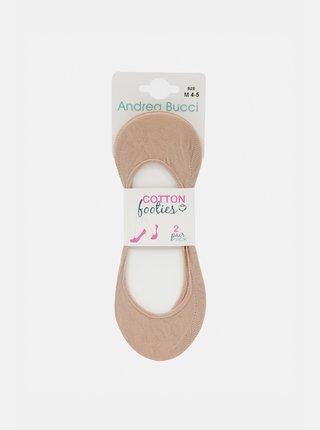 Dva páry telových nízkych ponožiek Andrea Bucci