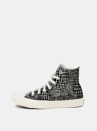 Krémovo-černé dámské vzorované kotníkové tenisky Converse
