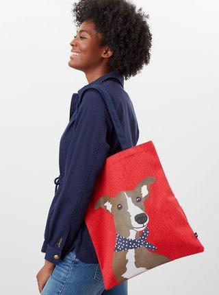 Červená plátená taška s potlačou Tom Joule