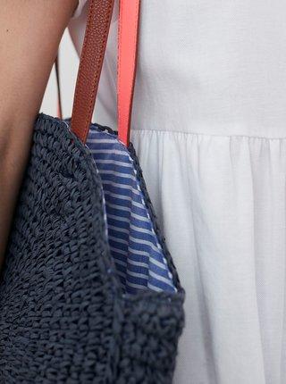 Tmavě modrá slaměná taška Tom Joule