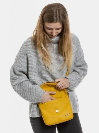 Žltá crossbody kabelka Meatfly Shea