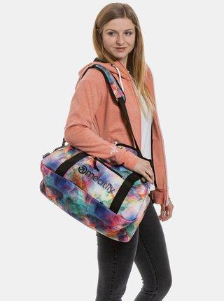 Modro-fialová vzorovaná cestovná taška Meatfly Mavis 26 l