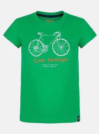 Zelené dětské tričko s potiskem LOAP