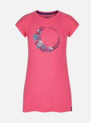 Ružové dievčenské šaty s potlačou LOAP