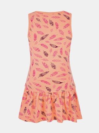 Oranžové dievčenské vzorované šaty LOAP