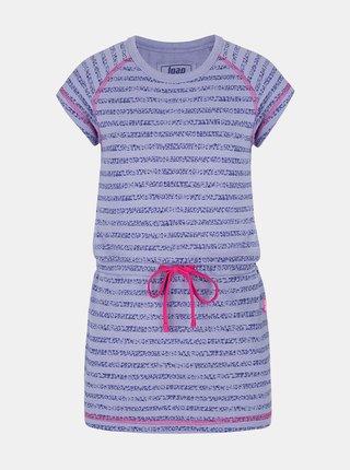 Fialové dievčenské pruhované šaty so zaväzovaním LOAP