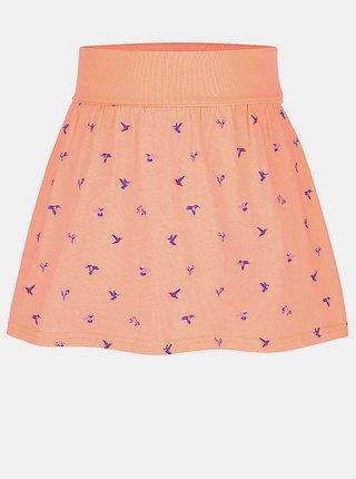 Oranžová dievčenská vzorovaná sukňa LOAP
