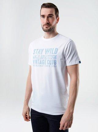 Bílé pánské tričko s potiskem LOAP
