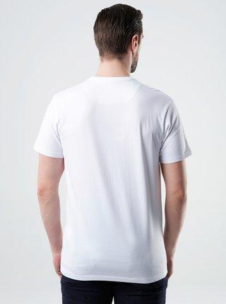 Biele pánske tričko s potlačou LOAP