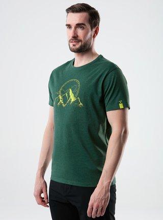 Zelené pánské tričko s potiskem LOAP