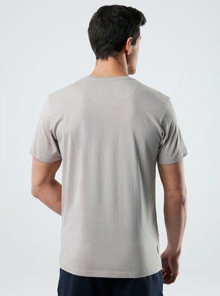 Béžové pánské tričko s potiskem LOAP