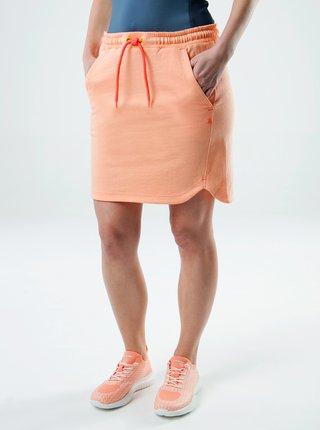 Oranžová dámska sukňa s vreckami LOAP