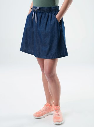 Tmavomodrá dámska sukňa s vreckami LOAP