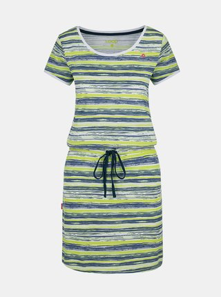 Modro-zelené dámské pruhované šaty se zavazováním LOAP