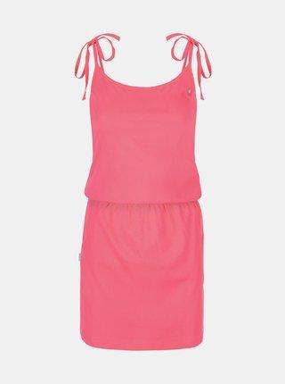 Růžové dámské šaty na ramínka LOAP