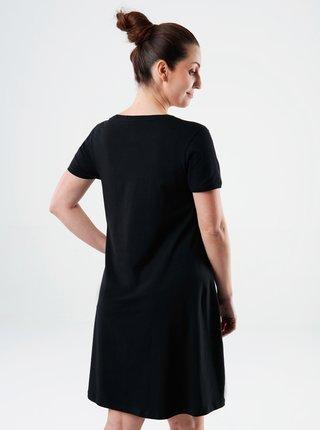 Černé dámské šaty s potiskem LOAP