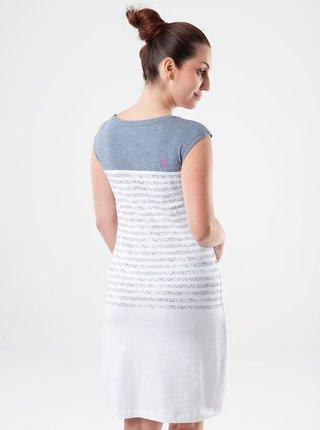 Šedo-bílé dámské pruhované šaty LOAP