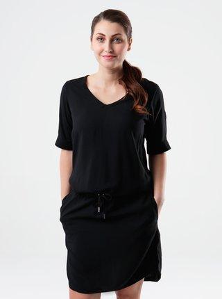 Černé dámské šaty se zavazováním LOAP