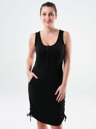 Černé dámské šaty s kapsami LOAP