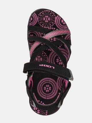 Růžovo-černé holčičí vzorované sandály LOAP