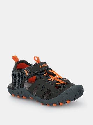 Šedé chlapčenské sandále LOAP