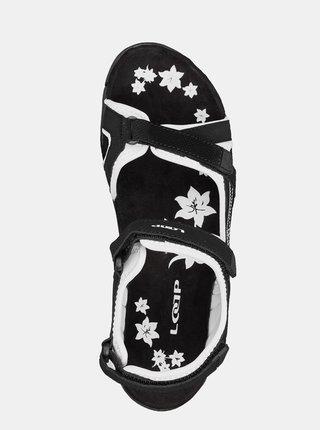 Černé dámské květované sandály LOAP