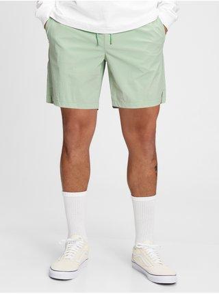 Zelené pánské kraťasy GAP Logo 6 swim trunks