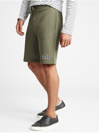 Zelené pánské kraťasy GAP Logo 9 shorts in fleece
