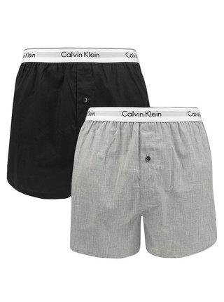 2PACK pánské trenky Calvin Klein vícebarevné